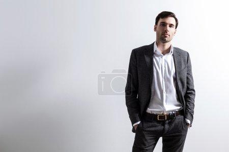 Businessperson on white