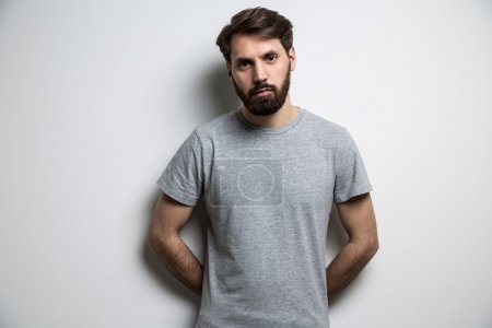 Man grey t-shirt