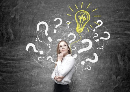 Businesswoman idea concept