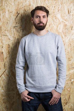 Man grey sweatshirt