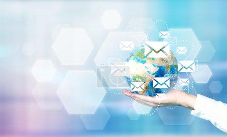 Email network around globe