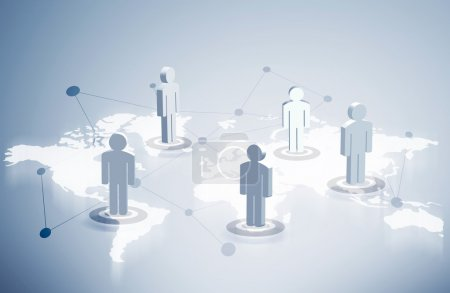 Networking system people icons