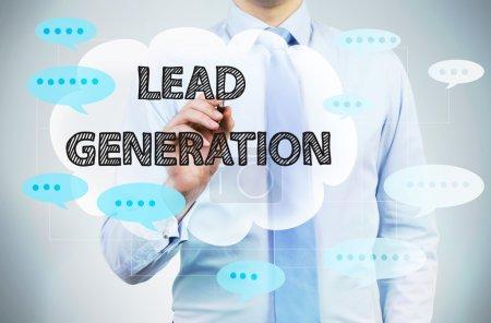 Lead generation concept businessman