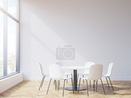Round table in conference room