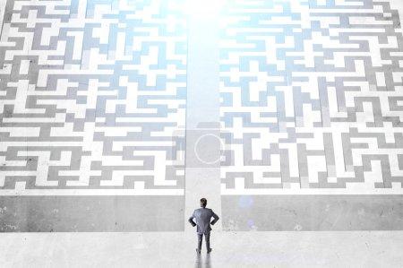 Success concept divided maze