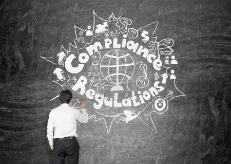 Regulations and compliance concept with thoughtful...