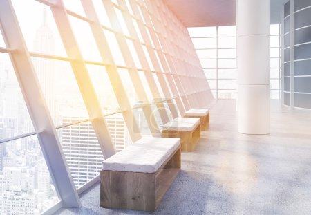Loft office interior toning