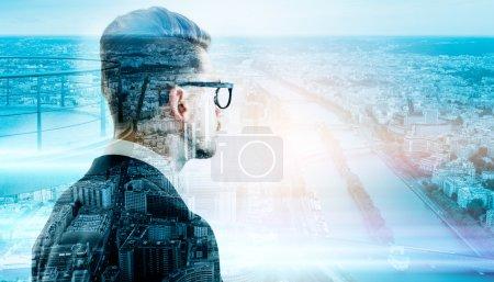 Man in glasses Paris