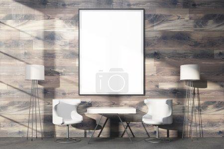 Huge blank frame on wood