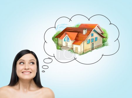 Woman thinking about mortgage