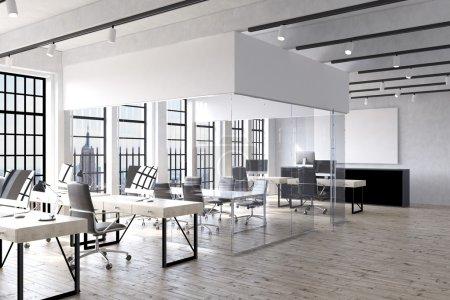 Empty office room in New York