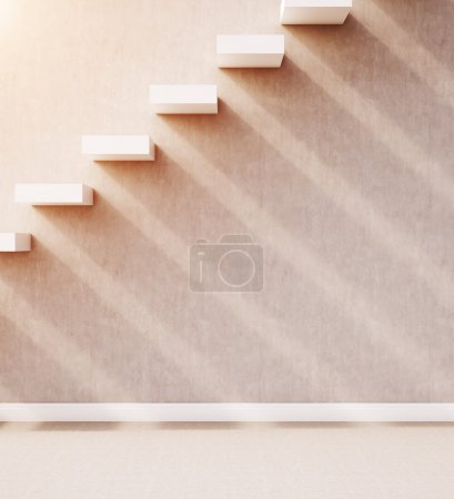 Stairs in wall