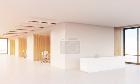 Conference rooms and reception counter