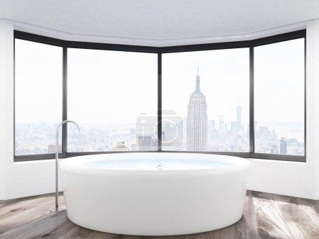 Panoramic view from bathroom window