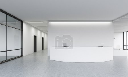 Office lobby with reception