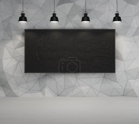 blackboard and lamps