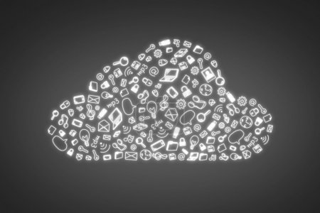 business symbol in form cloud