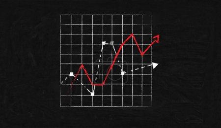 Charts drawn on blackboard