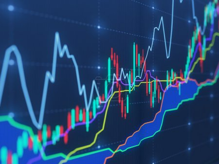 charts on virtual screen