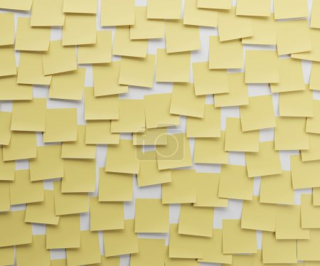 Photo pour Autocollant jaune sur un mur blanc - image libre de droit