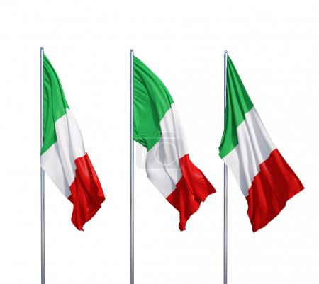 three flags of Italy