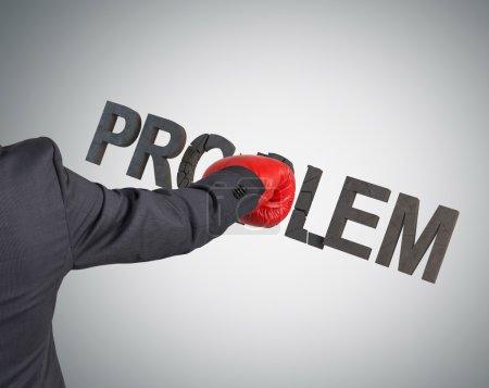 businessman breaking problem