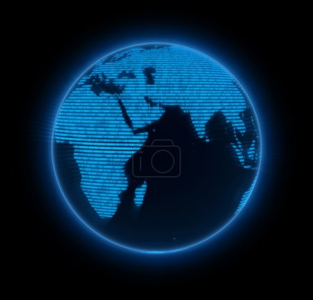 Photo pour Électronique terre. Éléments de cette image fournis par la NASA . - image libre de droit