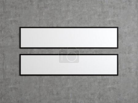 two blank frame