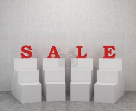 podium and sale