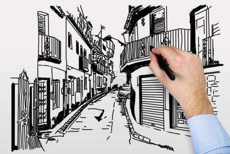 drawing street