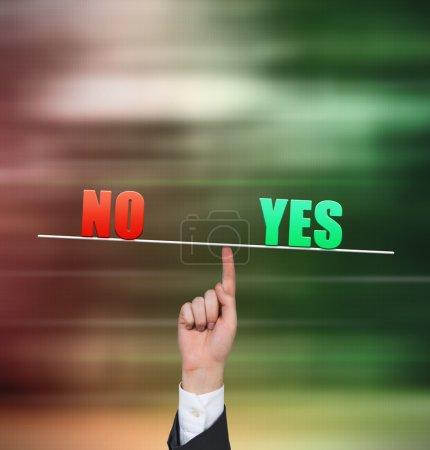 No and yes symbol