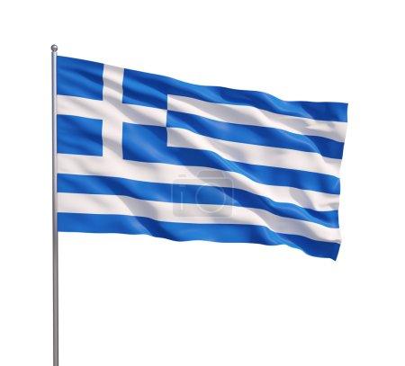 Waving flag of Greece o
