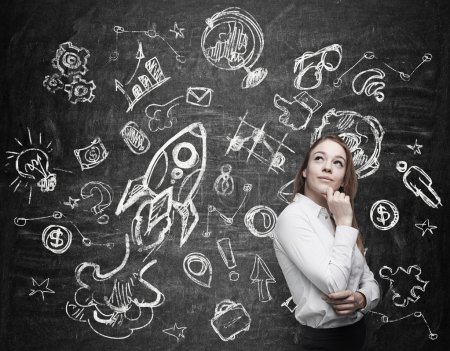 Young woman is thinking about future education opportunities