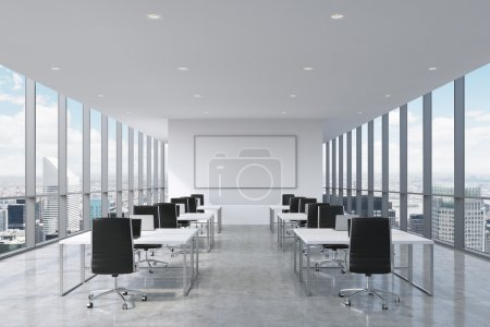 A symmetric corporate workplaces equipped by moder...
