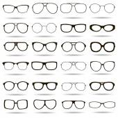 24 black and white vector icons highly detailed glasses