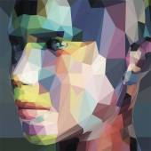 Abstract portrait made of triangles
