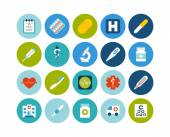 Flat icons vector set 18 - medical collection