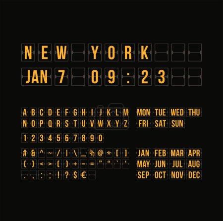 Flat calendar scoreboard