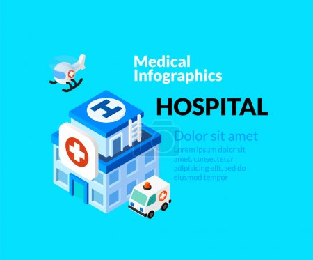 Medical healthcare infographic set