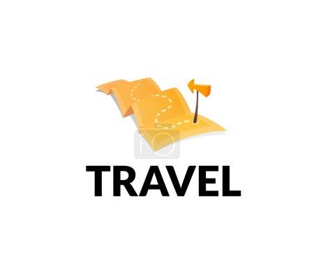 World tour concept logo isolated on white backgrou...