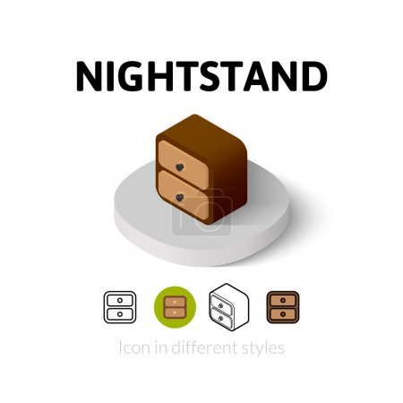 Nightstand icon in different style