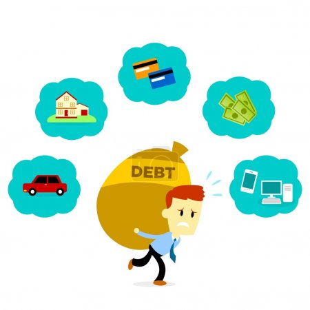 Man with His Debt
