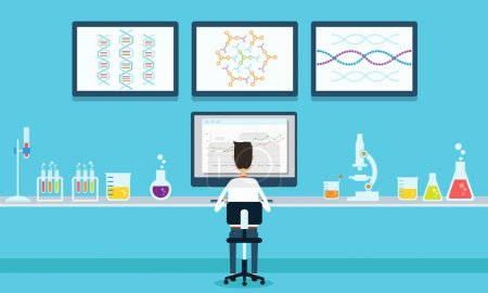 Illustration for People working in laboratory lap concept - Royalty Free Image