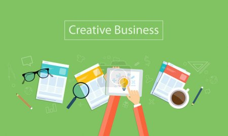 Illustration for Creative business idea concept for web banner - Royalty Free Image