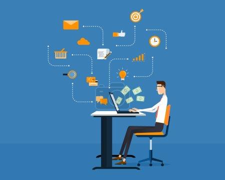 People business make money idea on line concept