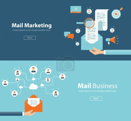 concept for email marketing connection and digital marketing content