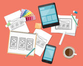 Concept for web and application design work space