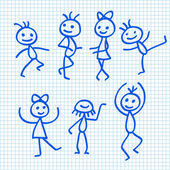 Cartoon Dancing People