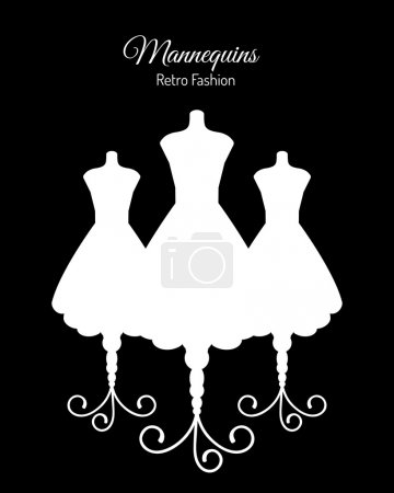 White Silhouettes of Mannequins