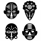 African masks tribal design